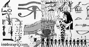 Egyptian hieroglyphs Photoshop Brushes