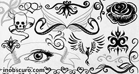 Ink doodles and ornaments Photoshop Brushes