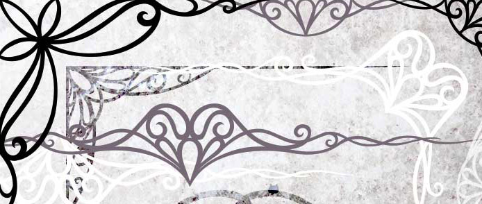 Art Nouveau Border Ornaments Free Photoshop Brushes