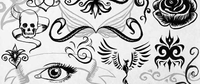 Ink Doodles & Ornaments Free Photoshop Brushes